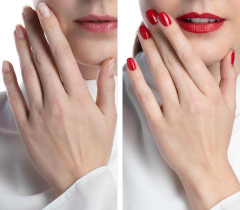 Manucure avant et après