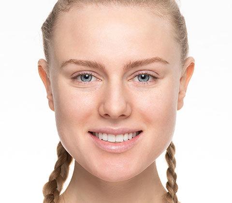 Hier wird der Vorher/Nacher Effekt des Festival Make-up's gezeigt