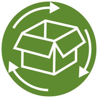 Un icono para el envase de transporte