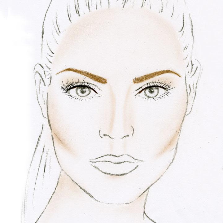 Eine ovale Gesichtsform mit einer passenden Augenbrauenform