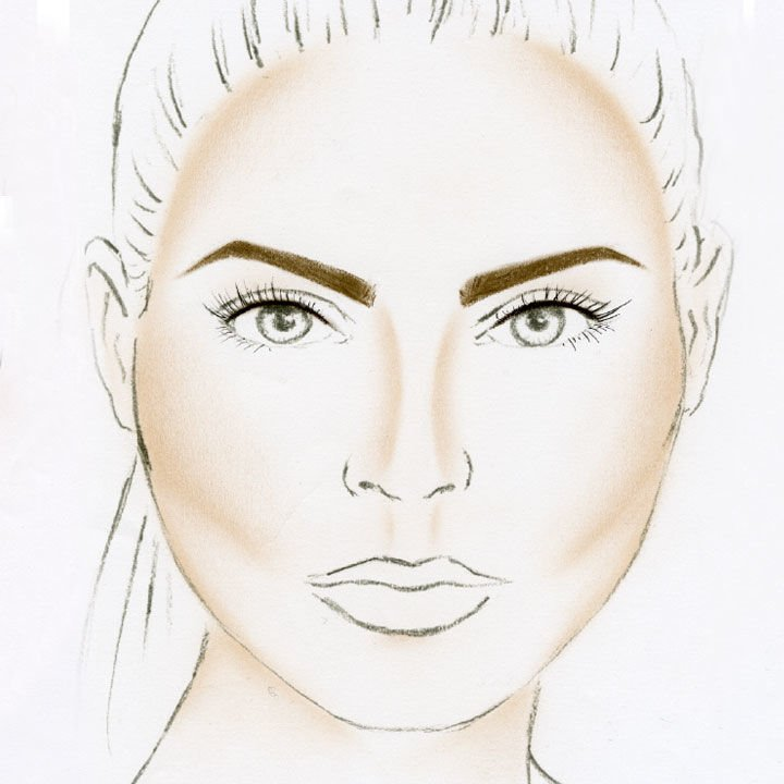 Eine runde Gesichtsform mit einer passenden Augenbrauenform