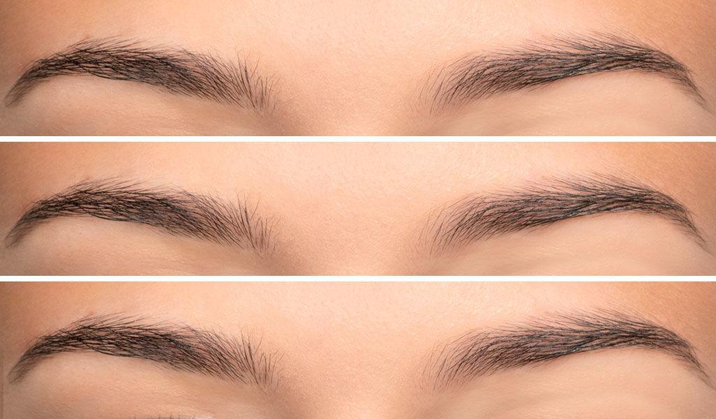 Vorher / Nachher Schminktipp Augenbrauen von ARTDECO