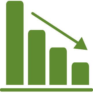 Un icono para la reducción del CO2 y el ahorro de recursos