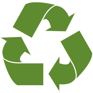 Un icono para el papel reciclado